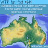 australia is moving north by 7cm a year wtf fun