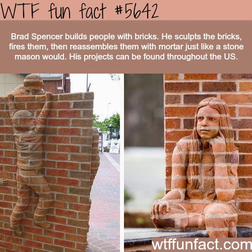 Awesome brick sculptures by Brad Spencer