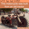 awesome motorcycle built from an old tractor wtf