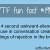 awkward silence pause facts