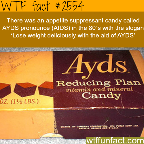 Ayds Appetite suppressant candy -WTF funfacts