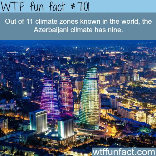 Azerbaijan has 9 climate zones - WTF fun facts
