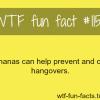 bananas cure hangover