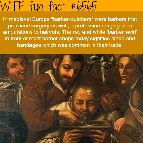 Barber surgeons - WTF fun facts