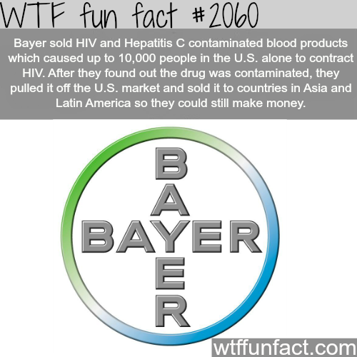 Bayer -WTF fun facts