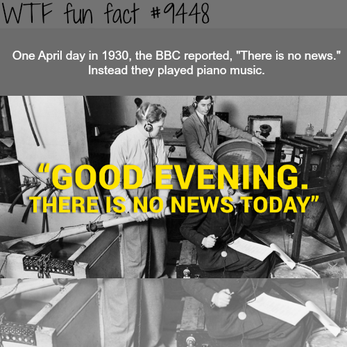 """BBC """"There is no news today"""" - WTF fun fact"""