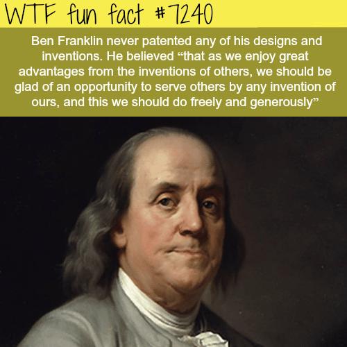 Ben Franklin - WTF Fun Fact