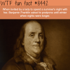 benjamin franklin invited to spend a night with a