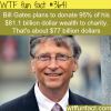 bill gates plans to donate 95 of his net worth