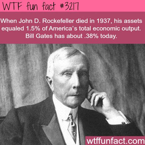 Bill Gates vs John D. Rockefeller real networth -WTF fun facts