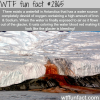 bleeding waterfall in antarctica