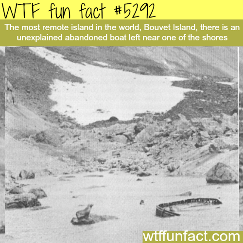 Boat found near the most isolated island - WTF fun facts