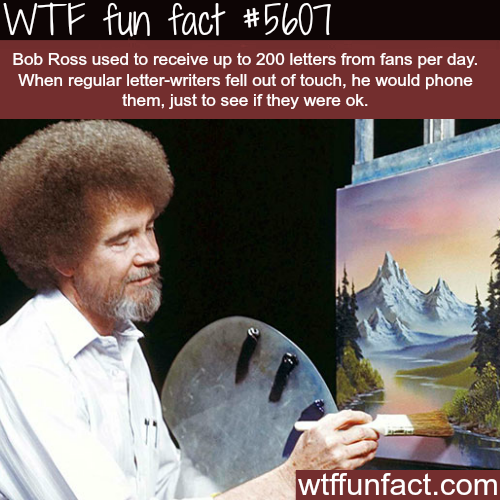 Bob Ross Facts - WTF fun facts