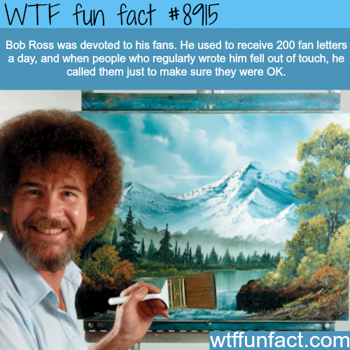 Bob Ross - WTF fun facts