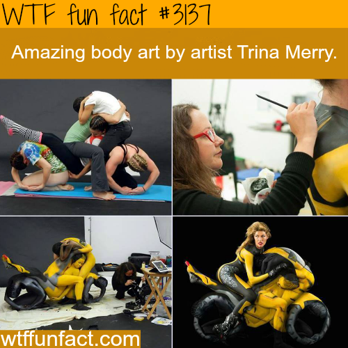 Body Paint Art by Trina Merry -WTF fun facts