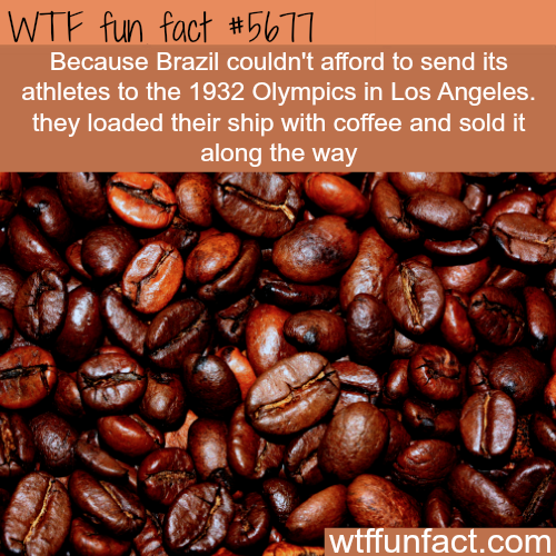 Brazil couldn't afford to sent it's athletes to the 1932 Olympics - WTF fun fact