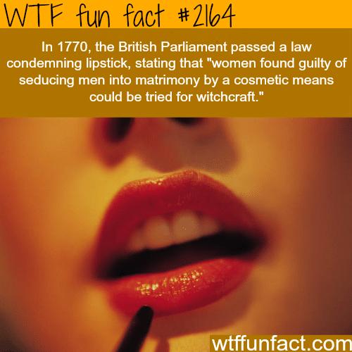 British Parliament lipstick ban -WTF fun facts
