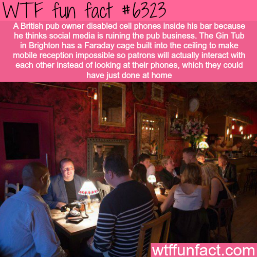 British pub owner disabled cell phones inside his bar -WTF fun facts