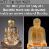 buddhist monk discovered inside a statue of buddha