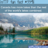 canada has more lakes than the rest of the world