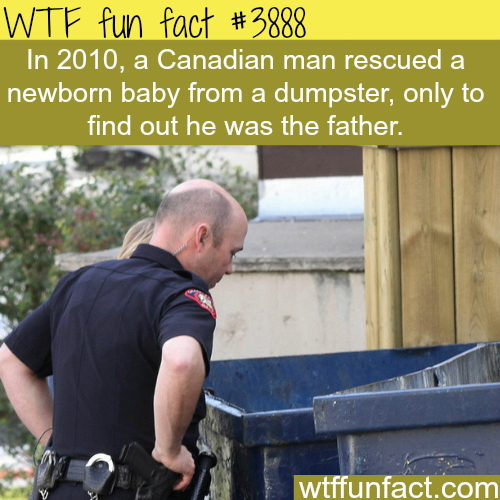 Canadian man saves a baby from a dumpster