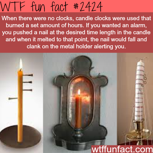 Candle Clocks -WTF funfacts