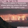 catatumbo lightning venezuela lightening place