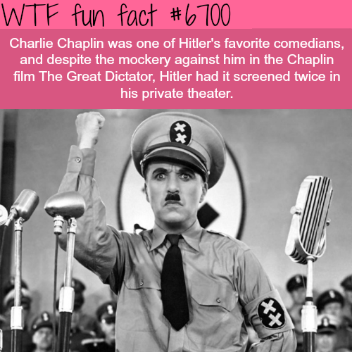 Charlie Chaplin and Hitler - WTF fun fact
