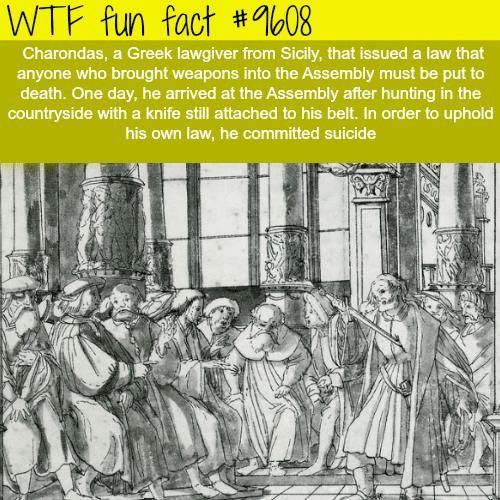 Charondas - WTF fun fact