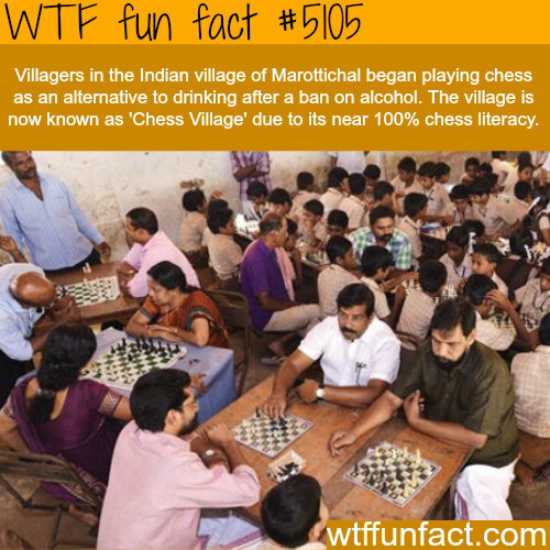 Chess village in India - WTF fun facts