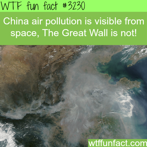 China air pollution as seen from space -WTF fun facts