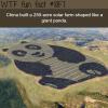 china built a solar farm shaped like a giant panda