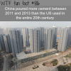 china is the king of cement wtf fun facts