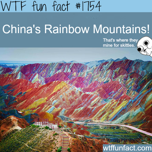 China's Rainbow Mountains -WTF fun facts
