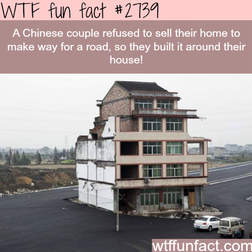 Chinese couple refuse to sell their house! -WTF funfacts
