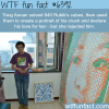 chinese man creates a portrait of his crush using