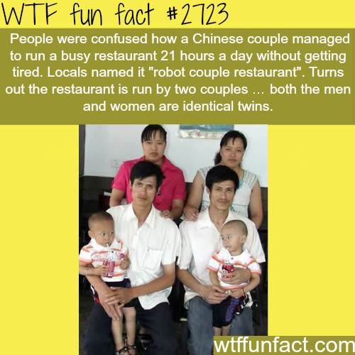 Chinese twins married a Chinese twins -WTF funfacts