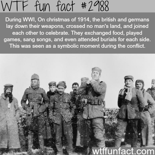 Christmas during World War 1 -WTF fun facts