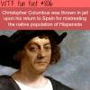 christopher columbus wtf fun fact