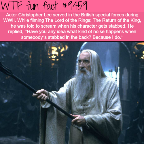 Christopher Lee - WTF fun fact