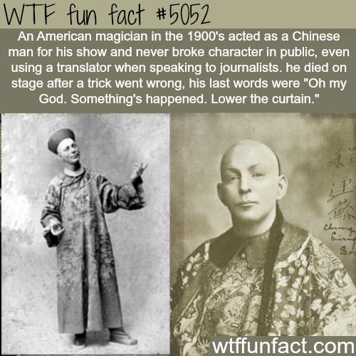 Chung ling Soo - WTF fun facts