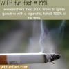 cigarettes cant ignite gasoline wtf fun fact