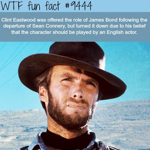 Clint Eastwood as James Bond - WTF fun fact