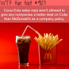 coca cola and mcdonalds wtf fun fact