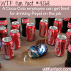 coca cola employee fired for drinking pepsi