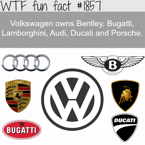 Companies owned by Volkswagen - WTF fun facts