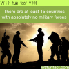 countries with no military