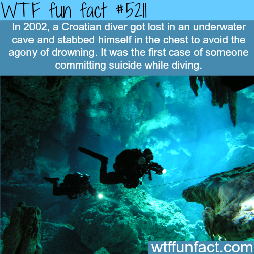 Croatian diver gets lost underwater - WTF fun facts