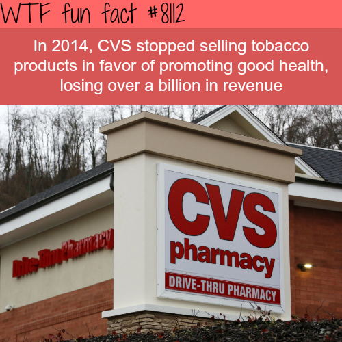 CVS lost a billion dollar in revenue… - WTF fun facts