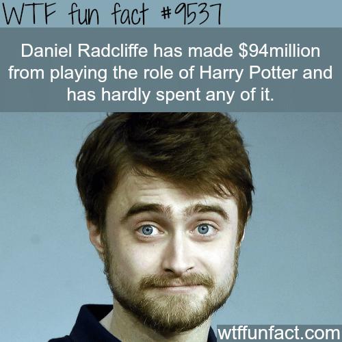 Daniel Radcliffe's Networth - WTF fun fact